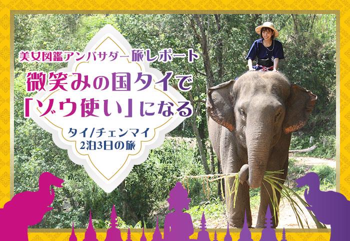 """微笑みの国""""タイ""""で象使いになる! @チェンマイ"""